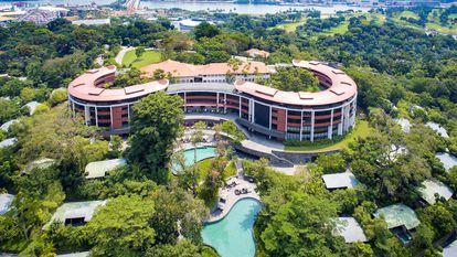 Imagem sem data do hotel Capella.