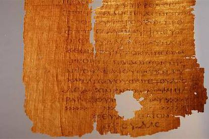 Manuscrito do 'Evangelho de Judas'.