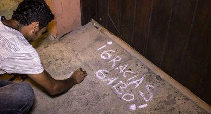 Obrigado, Gabo!, diz a mensagem na casa do escritor no México.