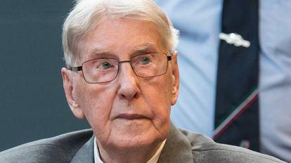 Reinhold Hanning, em Detmond, depois de ouvir sua sentença.