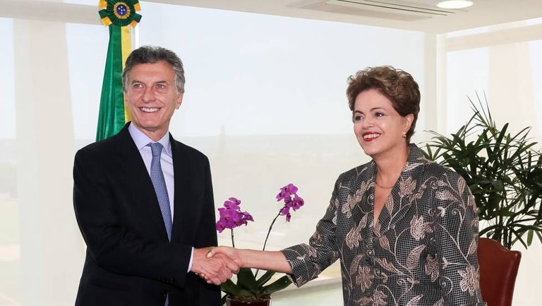 Mauricio Macri e Dilma Rousseff, em dezembro.