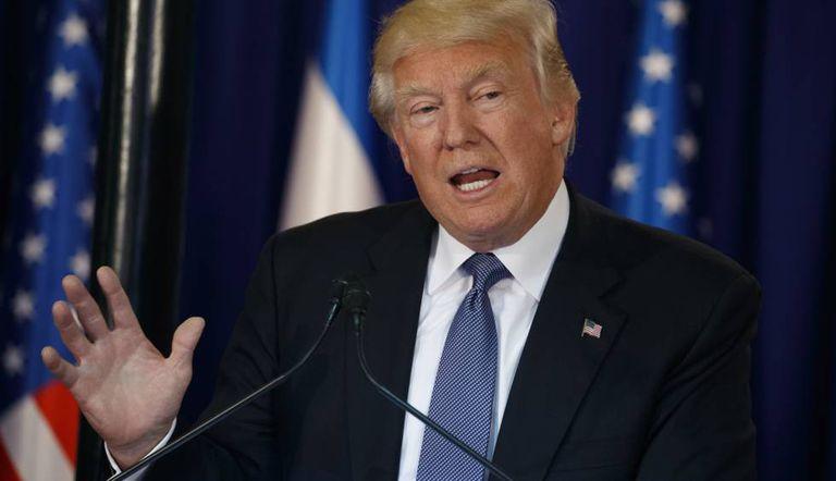 O presidente Donald Trump em Israel.