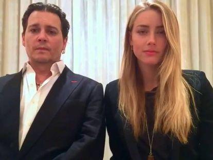 O ator norte-americanos Johnny Depp e Amber Heard se desculpam em um vídeo.