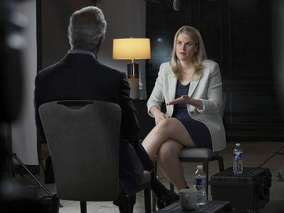 Frances Haugenem sua entrevista ao '60 minutes'.