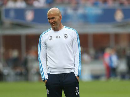 Zidane durante o treinamento.