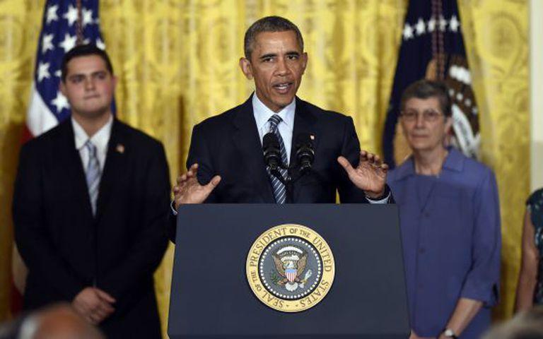 O presidente Obama durante a cerimônia.