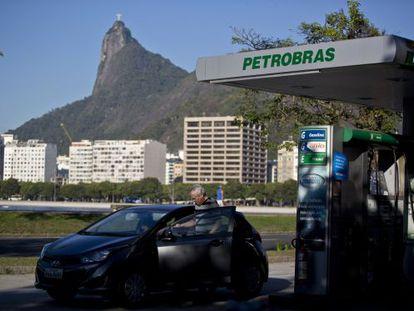Posto da Petrobras, no Rio.
