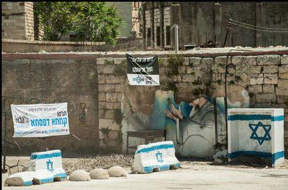 As ruas de Hebron, cheias de bloqueios e postos de controle.