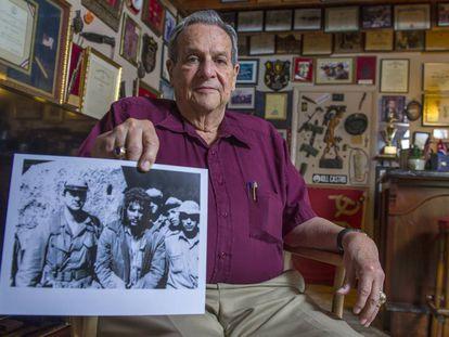 Félix Rodríguez, no último sábado em sua casa em Miami.