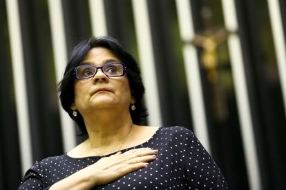 Damares Alves participa de celebração pelo Dia Nacional de Valorização da Família, em 21 de outubro de 2019.