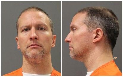 Foto do ex-policial de Minnesota Derek Chauvin após sua prisão.