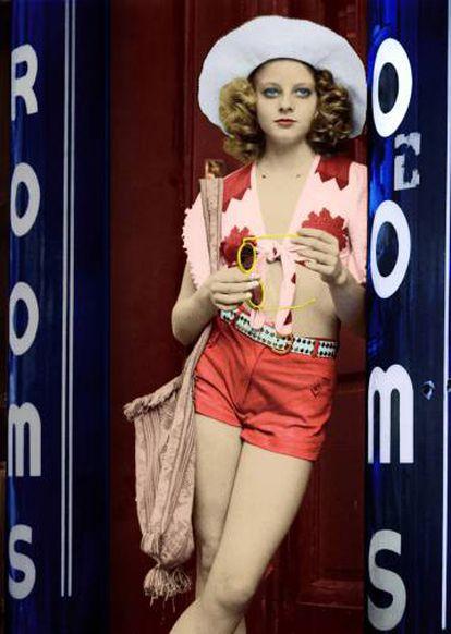 Jodie Foster, em 1976, em uma imagem de 'Táxi driver'.