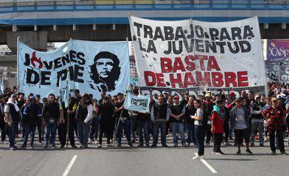Manifestação contra a política econômica do Governo argentino, na quarta-feira 28 de agosto em Buenos Aires