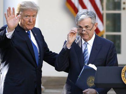 Trump e Jerome Powell