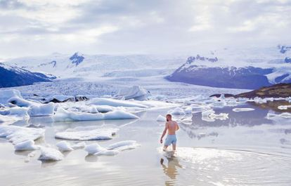 A lagoa de Jokulsarlon no sudeste da Islândia, onde o turismo está crescendo.