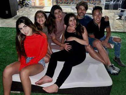 Juninho e a família, em Los Angeles.