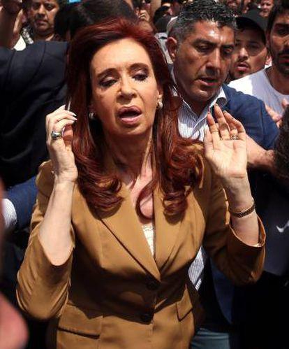 Cristina Kirchner em Buenos Aires no final de outubro.