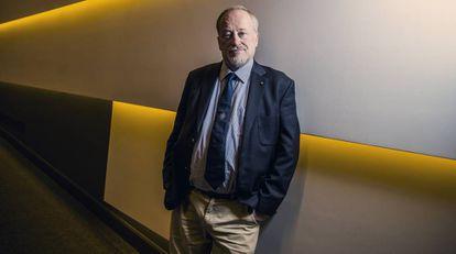 Ross Anderson, professor de Engenharia de Segurança da Universidade de Cambridge, no auditório da Fundação Ramón Areces (Madri).