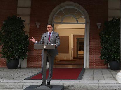 Pedro Sánchez fala sobre os indultos aos separatistas após a reunião do Conselho de Ministros nesta terça-feira.