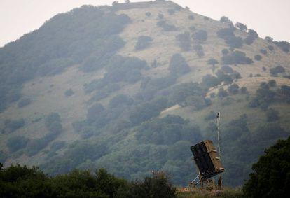 Bateria antimíssil israelense nas Colinas de Golã