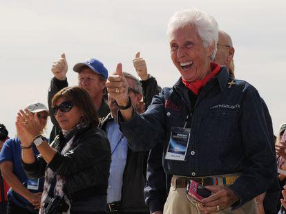A futura astronauta Wally Funk, em imagem de 2012.