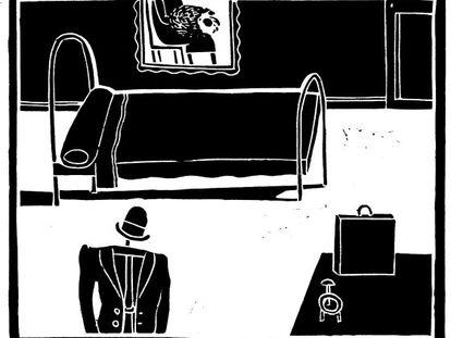Ilustração de Antonio Santos para 'A metamorfose'.