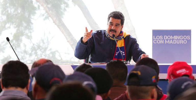 Nicolás Maduro durante o programa semanal 'Os Domingos com Maduro', em Caracas, neste domingo.