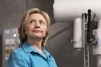 Hillary Clinton, durante um ato eleitoral em Des Moines.