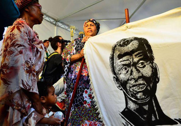 Missa afro em São Paulo em comemoração ao Dia da Consciência Negra.