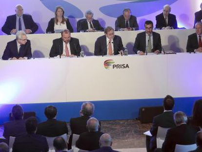 Junta de acionistas do Grupo Prisa em abril de 2015.