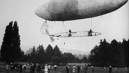 O dirigível nº 6 em imagem da época.