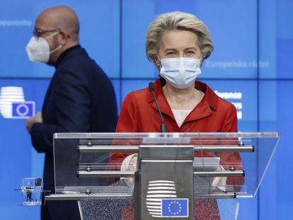 Ursula Von Der Leyen em Bruxelas, em 29 de outubro.