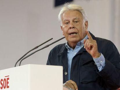 Felipe Gonzalez, durante uma conferência em 12 de abril.