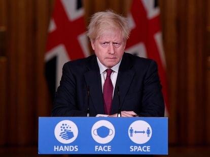 Boris Johnson anuncia neste sábado, em Downing Street, as novas medidas para Londres.