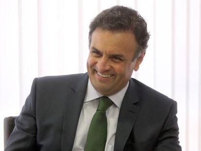 O candidato do PSDB Aécio Neves.