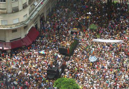 O bloco 'Tarado Ni Você' no desfile do ano passado.