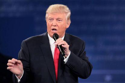 Donald Trump, durante o segundo debate das presidenciais.