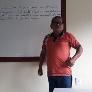 Anselmo Rodrigres Samias, de 57 anos, professor indígena do povo Kokama e ativista pela revitalização do idioma kokama.