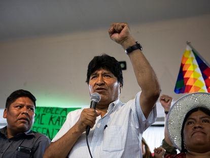 Evo Morales, em Buenos Aires, em janeiro passado.