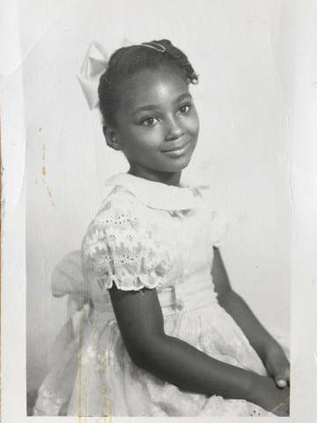 Sherry Johnson, aos sete anos de idade.