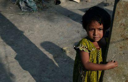 A?ltima  paciente de polio registra/registrada na Índia em 2011, Rukhshar Khatoon, em janeiro de 2014.