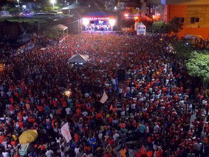 Caravana de Lula realiza ato em Mossoró, no último dia 28.