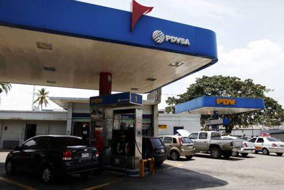 Posto de abastecimento da petroleira estatal PDVSA.