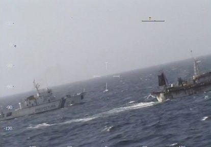 Navio argentino que afundou o pesqueiro chinês.