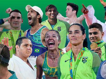 Medalhistas do Brasil compõem panteão da diversidade nacional