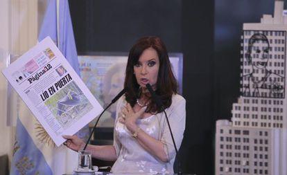 A presidenta argentina, Cristina Kirchner, em 4 de fevereiro.