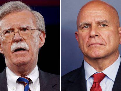 John Bolton (à esquerda) e H.R. McMaster