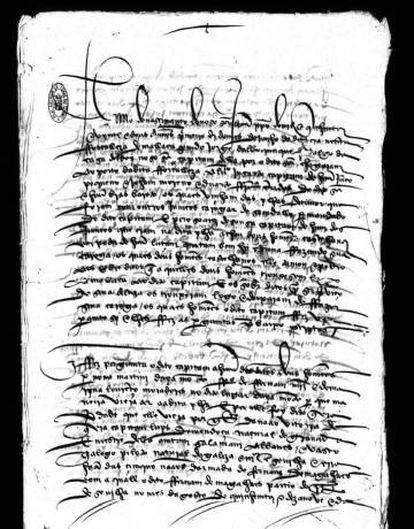 Relato de Martín Ayamonte, grumete do 'Victoria', para as autoridades portuguesas.
