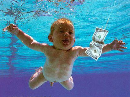 A capa do álbum 'Nevermind', da banda Nirvana.