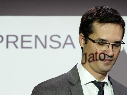 O procurador Deltan Dallagnol durante evento em Brasília em março de 2020.